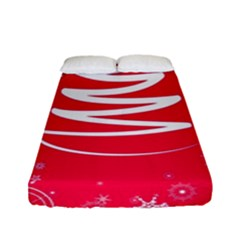 Christmas Tree Fitted Sheet (full/ Double Size)