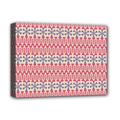 Christmas Pattern Vintage Deluxe Canvas 16  X 12   by Nexatart