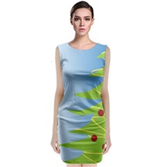 Christmas Tree Christmas Classic Sleeveless Midi Dress