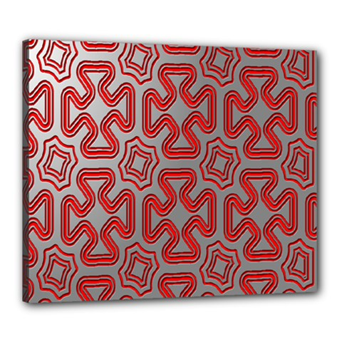 Christmas Wrap Pattern Canvas 24  X 20