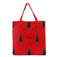 Christmas Time Fir Trees Grocery Tote Bag by Nexatart