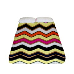 Colorful Chevron Pattern Stripes Fitted Sheet (full/ Double Size)