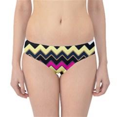 Colorful Chevron Pattern Stripes Hipster Bikini Bottoms by Nexatart