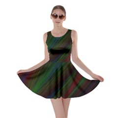 Dark Background Pattern Skater Dress