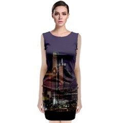 Dallas Texas Skyline Dusk Classic Sleeveless Midi Dress