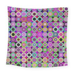 Design Circles Circular Background Square Tapestry (large) by Nexatart