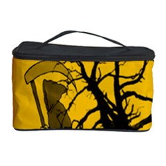 Death Haloween Background Card Cosmetic Storage Case by Nexatart