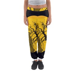 Death Haloween Background Card Women s Jogger Sweatpants by Nexatart