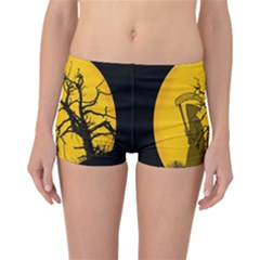Death Haloween Background Card Reversible Bikini Bottoms by Nexatart