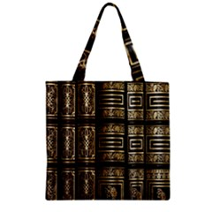 Detail Golden Gold Ornaments Zipper Grocery Tote Bag by Nexatart
