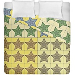 Pattern With A Stars Duvet Cover Double Side (king Size)