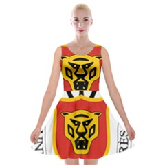 Coat of Arms of Burundi Velvet Skater Dress by abbeyz71