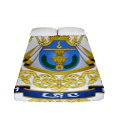 Royal Arms Of Cambodia Fitted Sheet (full/ Double Size) by abbeyz71
