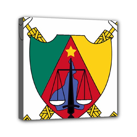Coat Of Arms Of Cameroon Mini Canvas 6  X 6