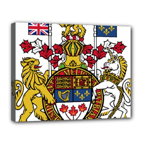 Coat Of Arms Of Canada  Canvas 14  X 11  by abbeyz71