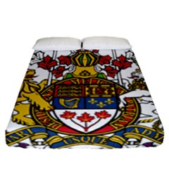 Coat Of Arms Of Canada  Fitted Sheet (queen Size) by abbeyz71