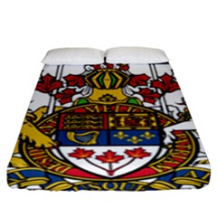 Coat Of Arms Of Canada  Fitted Sheet (king Size) by abbeyz71