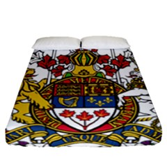 Canada Coat Of Arms  Fitted Sheet (queen Size) by abbeyz71