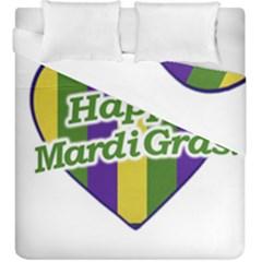 Happy Mardi Gras Logo Duvet Cover Double Side (king Size) by dflcprints