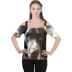 English Springer Spaniel Liver Women s Cutout Shoulder Tee by TailWags
