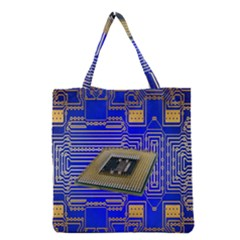Processor Cpu Board Circuits Grocery Tote Bag by Nexatart