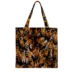 Honey Bee Water Buckfast Zipper Grocery Tote Bag