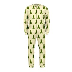 Leaf Pattern Green Wallpaper Tea OnePiece Jumpsuit (Kids) by Nexatart