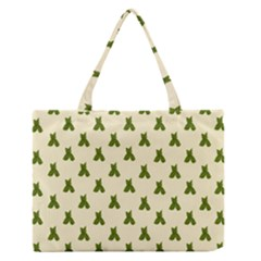 Leaf Pattern Green Wallpaper Tea Medium Zipper Tote Bag by Nexatart