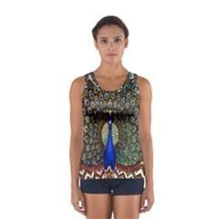 The Peacock Pattern Women s Sport Tank Top  by Nexatart