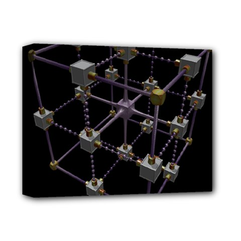 Grid Construction Structure Metal Deluxe Canvas 14  X 11