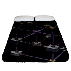 Grid Construction Structure Metal Fitted Sheet (king Size) by Nexatart