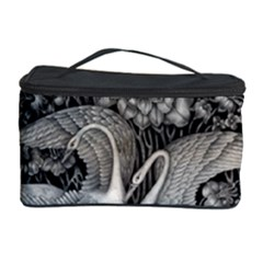 Swans Floral Pattern Vintage Cosmetic Storage Case by Nexatart