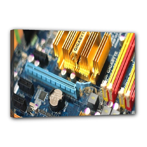 Technology Computer Chips Gigabyte Canvas 18  X 12