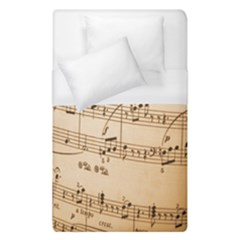 Music Notes Background Duvet Cover (single Size) by Nexatart