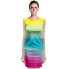 Watercolour Gradient Classic Sleeveless Midi Dress