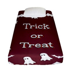 Halloween Free Card Trick Or Treat Fitted Sheet (single Size) by Nexatart