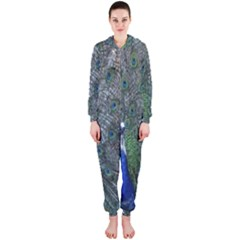 Peacock Four Spot Feather Bird Hooded Jumpsuit (ladies)
