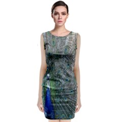 Peacock Four Spot Feather Bird Classic Sleeveless Midi Dress