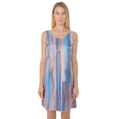 Vertical Abstract Contemporary Sleeveless Satin Nightdress