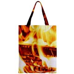 Fire Flame Wood Fire Brand Zipper Classic Tote Bag by Nexatart