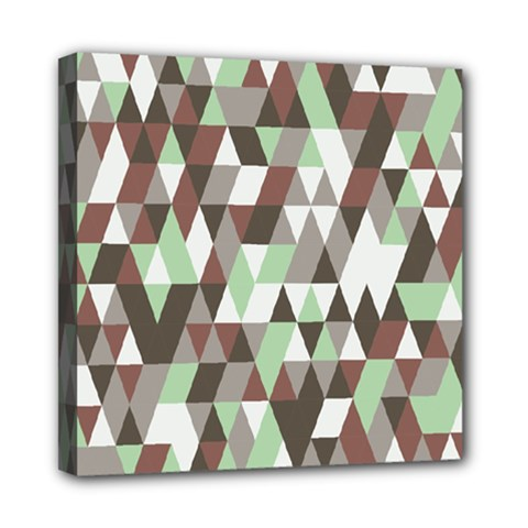Pattern Triangles Random Seamless Mini Canvas 8  X 8