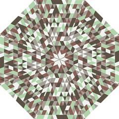 Pattern Triangles Random Seamless Hook Handle Umbrellas (medium) by Nexatart