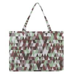 Pattern Triangles Random Seamless Medium Zipper Tote Bag