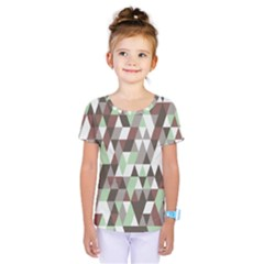 Pattern Triangles Random Seamless Kids  One Piece Tee by Nexatart