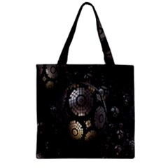 Fractal Sphere Steel 3d Structures Zipper Grocery Tote Bag by Nexatart