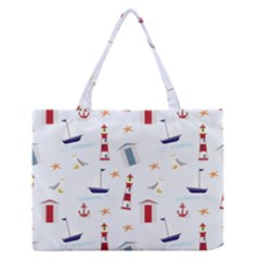 Seaside Beach Summer Wallpaper Medium Zipper Tote Bag by Nexatart