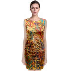 Ethnic Pattern Classic Sleeveless Midi Dress