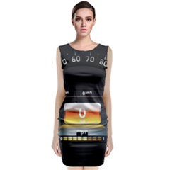 Interior Car Vehicle Auto Classic Sleeveless Midi Dress