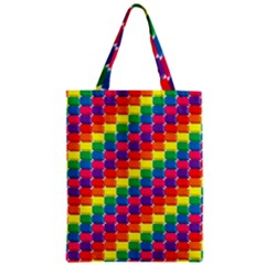 Rainbow 3d Cubes Red Orange Zipper Classic Tote Bag by Nexatart