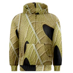 Yellow Leaf Fig Tree Texture Men s Zipper Hoodie